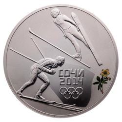 3 Roubles Sochi Winter Olympics: Nordic Combined -
