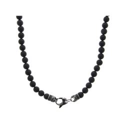 Unisex 10mm Lava Stone Necklace.