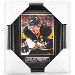 "Sidney Crosby Action Photo Framed. 12x10""."