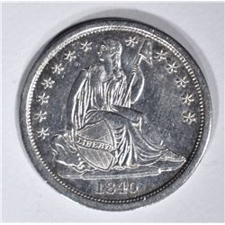 1840 SEATED DIME, AU/BU