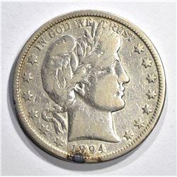 1894-O BARBER HALF DOLLAR, F/VF
