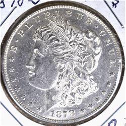 1878-S MORGAN SILVER DOLLAR, CH BU