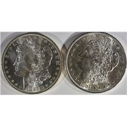 1881-S & 1885-O MORGAN DOLLARS BU