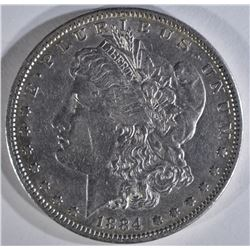 1884-S MORGAN DOLLAR XF/AU