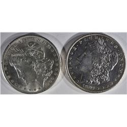 1897 & 1900 MORGAN DOLLARS BU