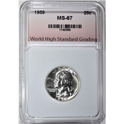 1959 WASHINGTON QTR GRADED WHSG