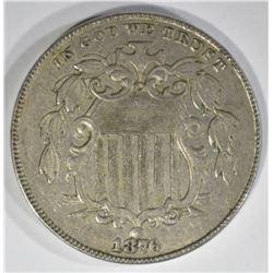 1876 SHIELD NICKEL  UNC