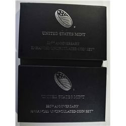 2-2017 ENHANCED 225th ANNIV MINT SETS