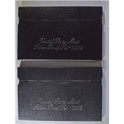 1994 & 95 U.S. SILVER PROOF SETS ORIG PACKAGING