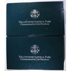 (2) Yellowstone Silver Commemoratives