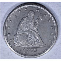 1875-CC TWENTY CENT PIECE  CH BU