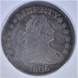 1806/5 BUST QUARTER GOOD