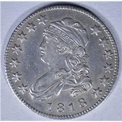 1818 BUST QUARTER CH AU MARKS OBV.