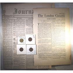 HISTORIC NEWSPAPER LOT: