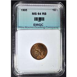 1905 INDIAN CENT, EMGC CH/GEM BU RB