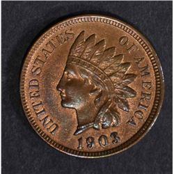 1903 INDIAN HEAD CENT  BU  R & B