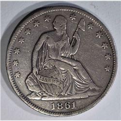 1861-O SEATED LIBERTY HALF DOLLAR  XF