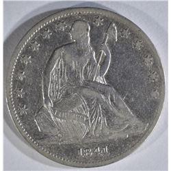 1841-O SEATED LIBERTY HALF VF