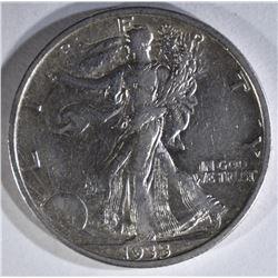 1933-S WALKING LIBERTY HALF XF+