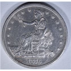 1876-S TRADE DOLLAR  AU+