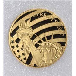 2017 COOK ISLANDS 1/10 oz .24 FINE GOLD