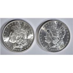 1881-S & 1885 MORGAN DOLLARS CH BU