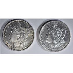 1881-O BU & 1902 AU/BU MORGAN DOLLARS