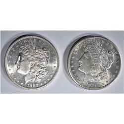 1882-S & 1921-S MORGAN DOLLARS BU