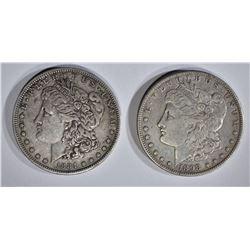 1884-S & 1898-S MORGAN DOLLARS XF