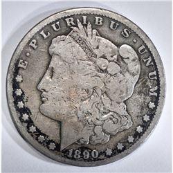 1890-CC MORGAN DOLLAR VG RIM BUMP