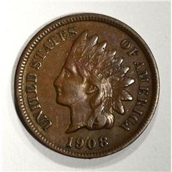 1908-S INDIAN CENT, ABOUT XF KEY COIN