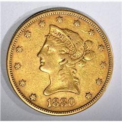 1880 $10.00 GOLD LIBERTY  XF