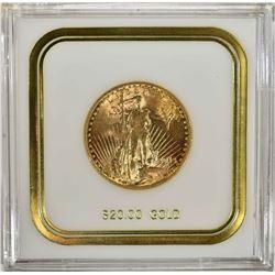 1913 $20.00 SAINT GAUDENS GOLD, CH BU