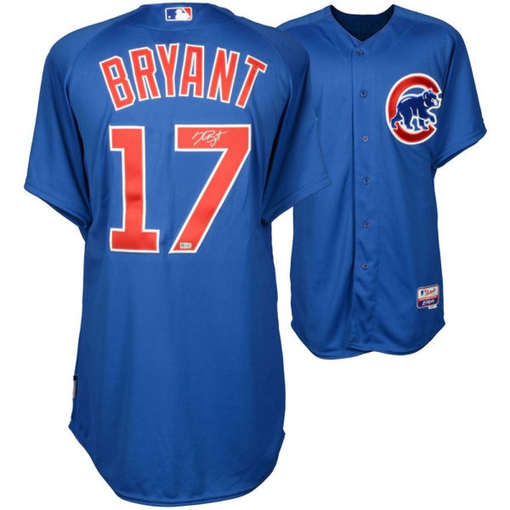 official photos f670e eb486 Kris Bryant Signed Cubs Majestic Authentic Jersey (MLB ...