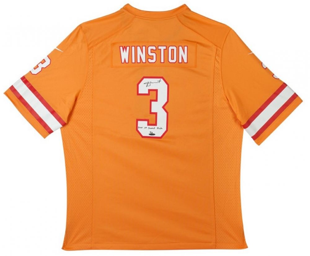 d439389f1d1 Image 1 : Jameis Winston Signed LE Buccaneers Throwback Nike Jersey  Inscribed