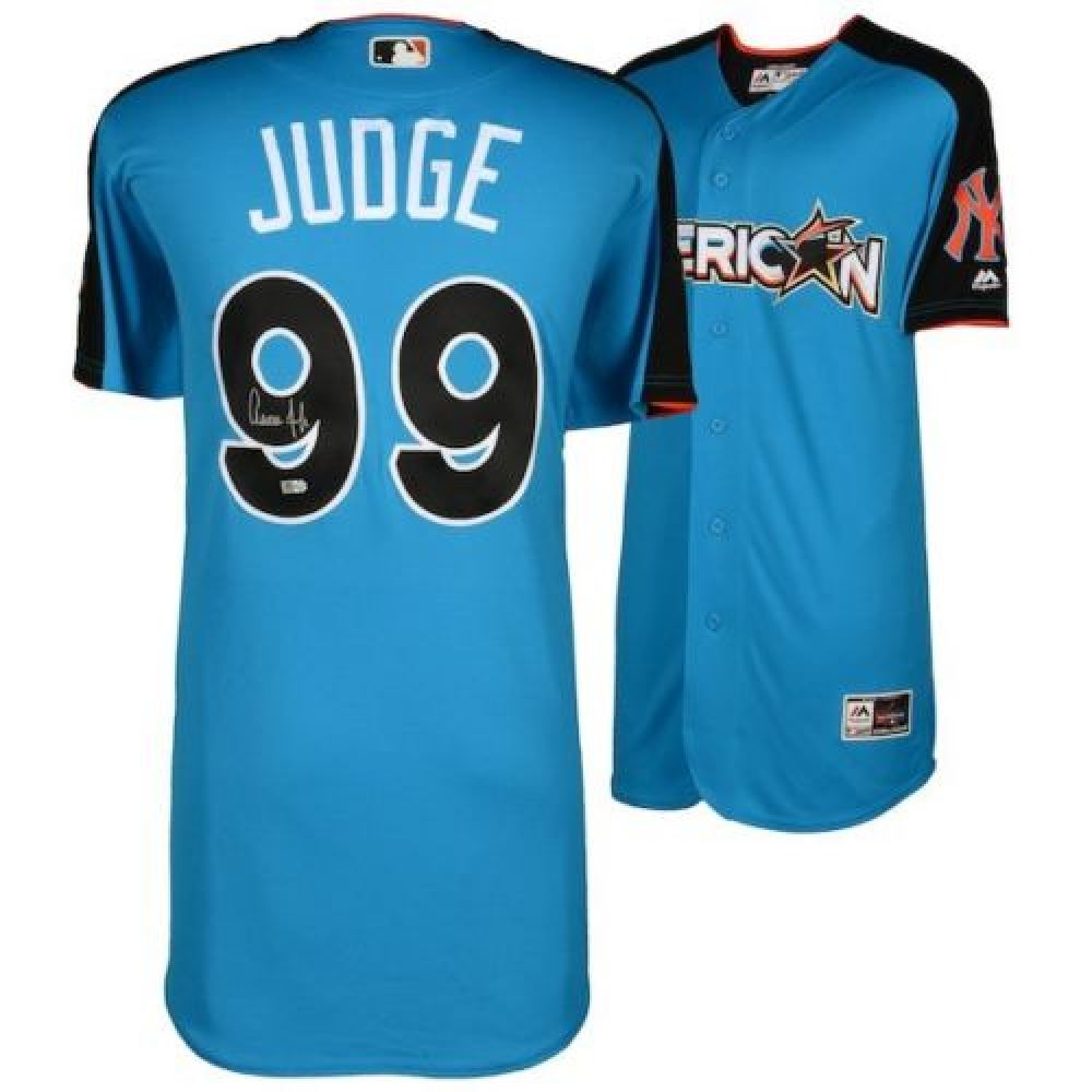 lowest price ab8a1 0425d Aaron Judge Signed Yankees Majestic Jersey (Fanatics MLB ...