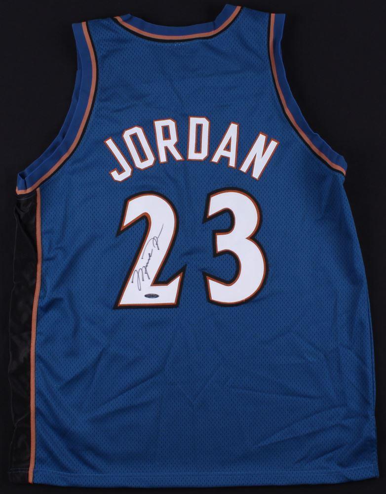 hot sale online 775fd 97871 Michael Jordan Signed Wizards Jersey (UDA COA)