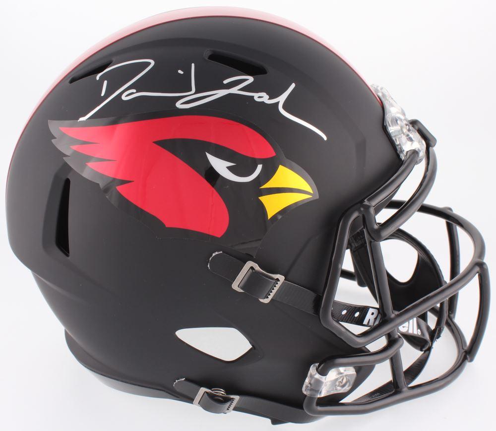 cfa98201af8 Image 1   David Johnson Signed Cardinals Custom Matte Black Full-Size Speed  Helmet (