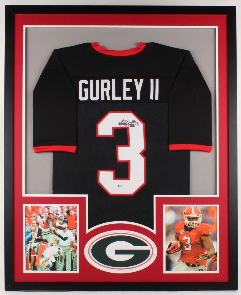 super popular dbd6a 27b17 Todd Gurley Signed Georgia Bulldogs 34x42 Custom Framed ...