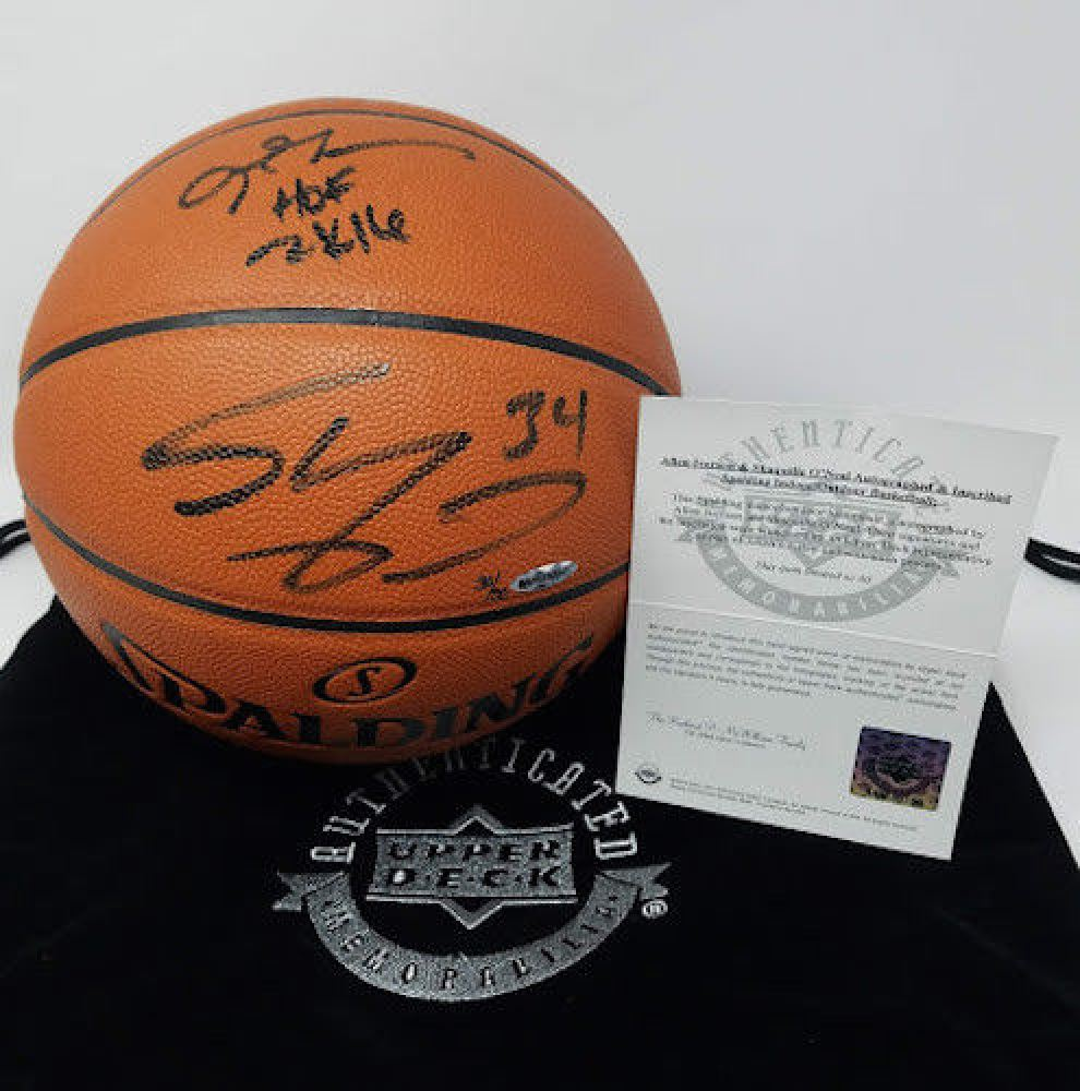09247978f41 Image 1 : Allen Iverson Shaquille O'Neal Signed LE Basketball Inscribed