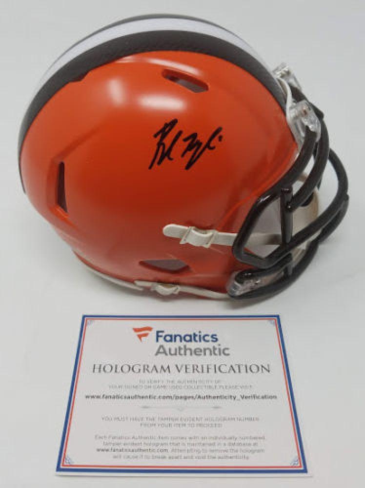 02fcaefd2 Image 1 : Baker Mayfield Signed Browns Mini Helmet (Fanatics Hologram)