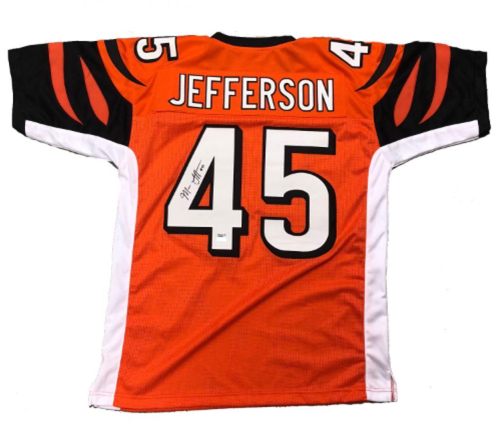 pretty nice b67d3 5bd12 Malik Jefferson Signed Bengals Jersey (Jefferson Hologram)
