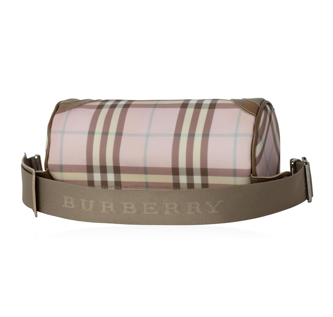 d7b64b9e90ed ... Image 3   Burberry Pink Nova Check Barrel Shoulder Bag ...