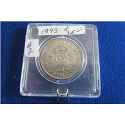 1943 SILVER KING GEORGE VI TWO SCHILLING