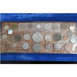 TRAY OF SILVER AND WORLD COLLECTIBLE COINS