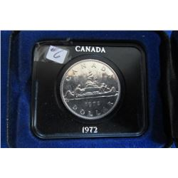 1972 CANADIAN CASED PROOF VOYAGER DOLLAR