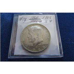 1968 USA KENNEDY SILVER HALF DOLLAR