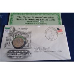1979 USA FIRST DAY ISSUE SUSAN B. ANTHONY DOLLAR