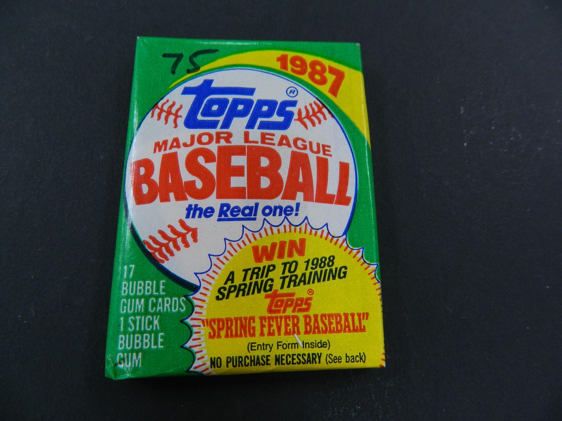 Six 6 Unopened Packs Of 1987 Topps Baseball Cards 17