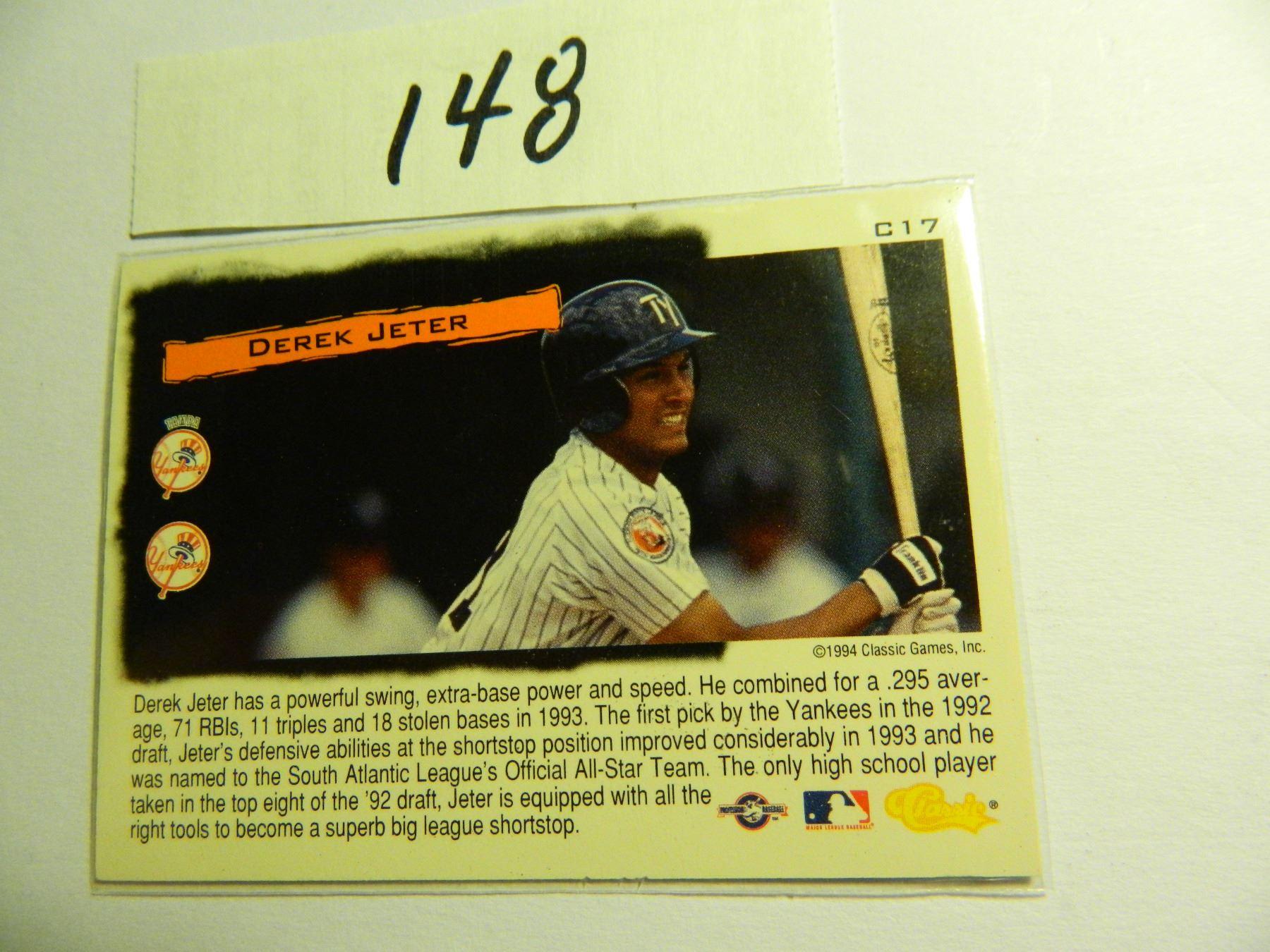 1994 Classic Derek Jeter Cream Of The Crop Rookie